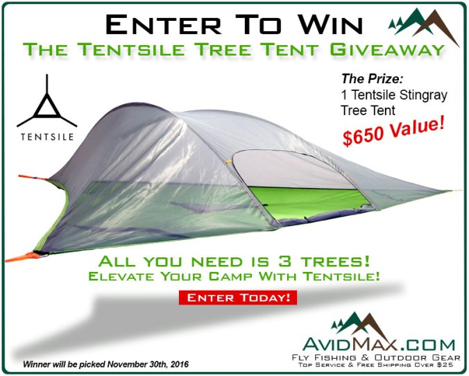 Enter to win our Tentsile Stingray Giveaway, through Nov. 30th 2016 enter here.