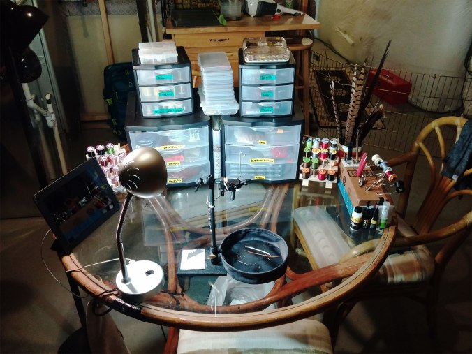 Brady's fly tying bench