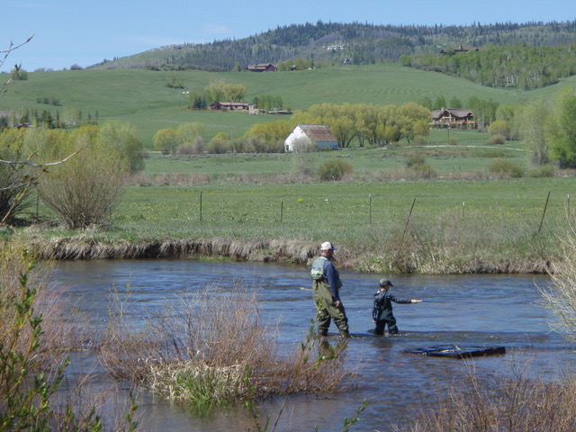 The first time out with my son, Tenkara fly fishing