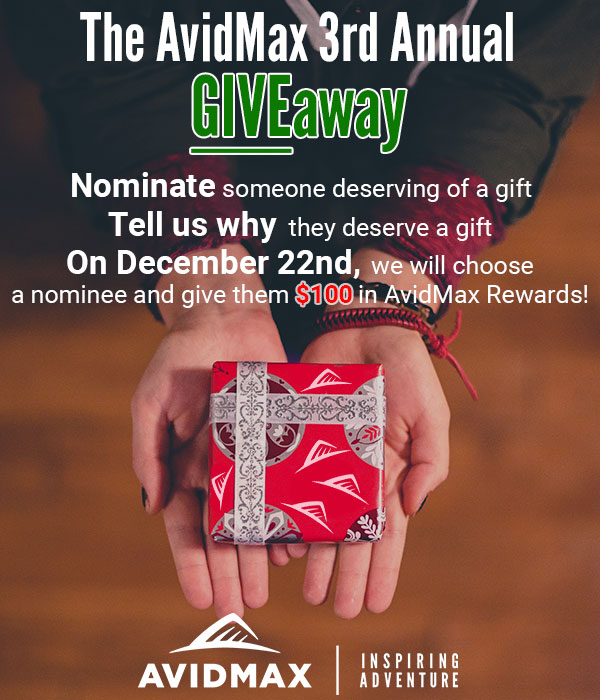The AvidMax GIVEaway 3 - Nominate someone deserving of a gift and tell us why!
