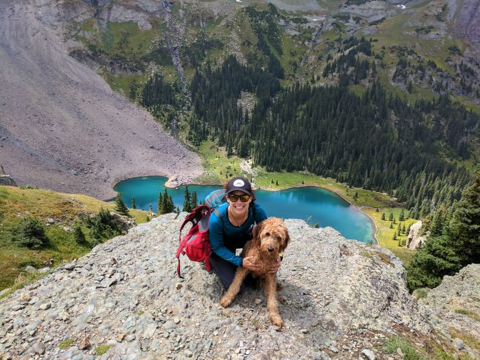 Backpacking with my dog Nati (National Park) at Blue Lakes