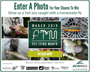 Show us a fish you caught with a homemade fly for our Fly Tying Month photo contest!