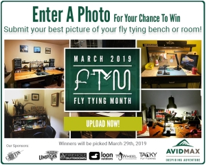 Show us your tying bench/room for our Fly Tying Month photo contest!