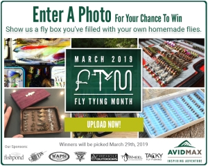 Show us a fly box you've filled with your own homemade flies for our Fly Tying Month photo contest