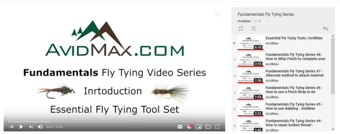 Check out our Fundamentals of fly tying video series